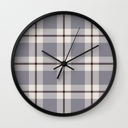 big light weave monochrome Wall Clock