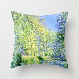 Monet: Bend in the River Ept Throw Pillow
