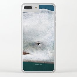 Herman Melville's Moby-Dick - Literary book cover design Clear iPhone Case
