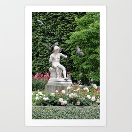 Paris Hidden Garden Art Print