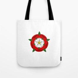 Tudor dynasty rose flag united kingdom great britain Tote Bag