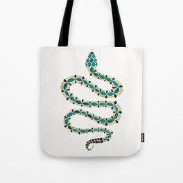 Emerald & Gold Serpent Tote Bag