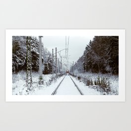 Suburb Train Art Print