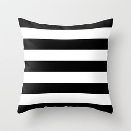 BLACK & WHITE STRIPES XL Throw Pillow
