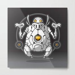Zen Robot Metal Print