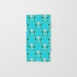 Heliconia Blossom Turquoise #tropical Hand & Bath Towel