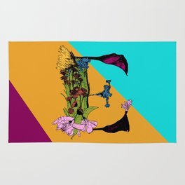 Come On Eileen, Floral Letter E Rug
