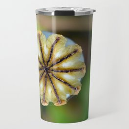 Poppy seed pod. Travel Mug
