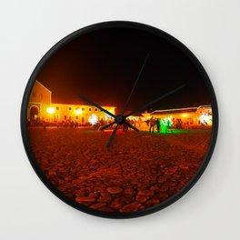 Villa de Leyva at night Wall Clock