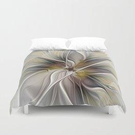 Floral Abstract, Fractal Art Duvet Cover
