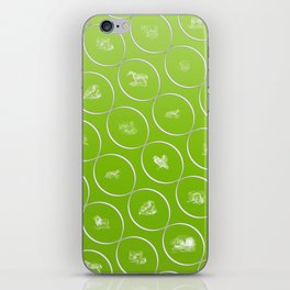 Abstract pattern with animal shapes iPhone Skin