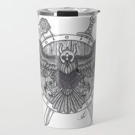 Viking Crow Travel Mug