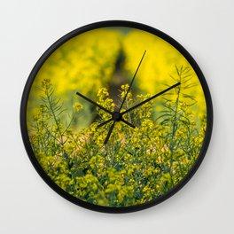 Yellow. Wall Clock