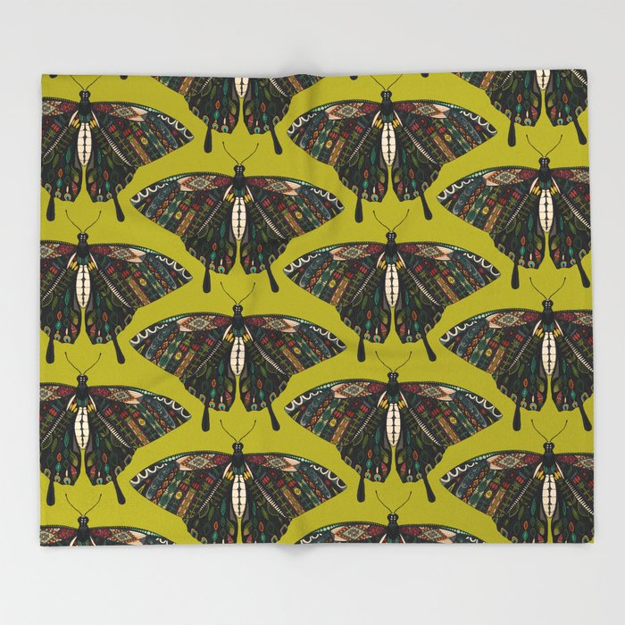 Swallowtail Butterfly Citron Throw Blanket By Sharonturner Society40 Enchanting Citron Throw Blanket