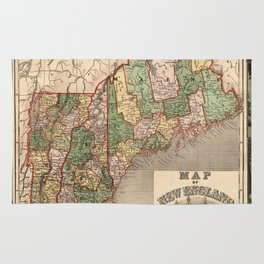Map of New England 1847 Rug