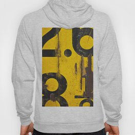 black numbers on yellow background Hoody
