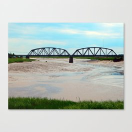 Low Tide at the Sackville Train Bridge Canvas Print