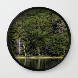 green reflections Wall Clock