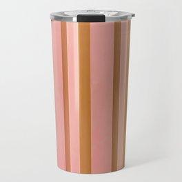 Stripes - Peach Travel Mug