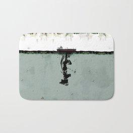 Ship boat oil spill sea Bath Mat