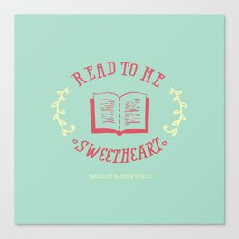 Read to me sweetheart Canvas Print