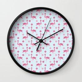 Origami Flamingo Wall Clock