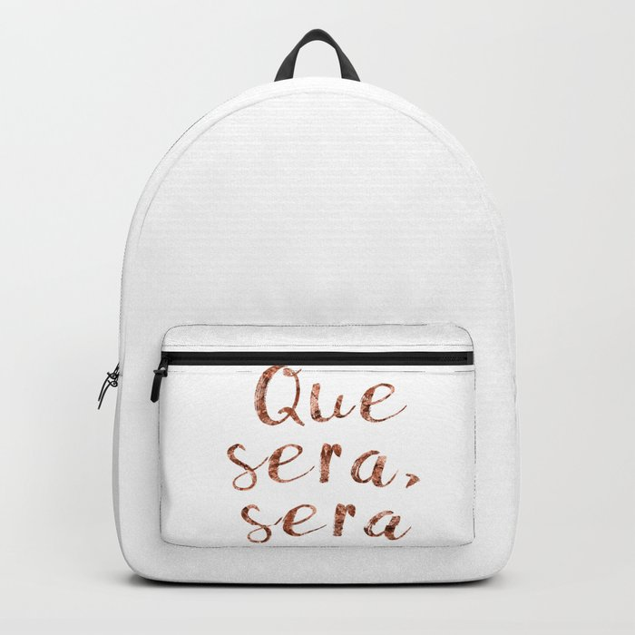 Rose gold Que Sera, Sera Backpack