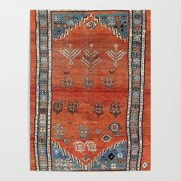 Bakhshaish Azerbaijan Northwest Persian Carpet Print Poster