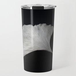 Ginkgo on black Travel Mug