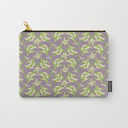 Vintage-style Lily-of-the-Valley on Mauve Carry-All Pouch