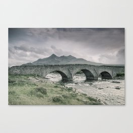 The Bridge and the Cuillin Canvas Print