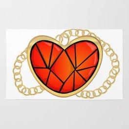 Jeweled Heart Locket Rug