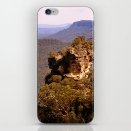 Blue Mountains Rockface iPhone Skin