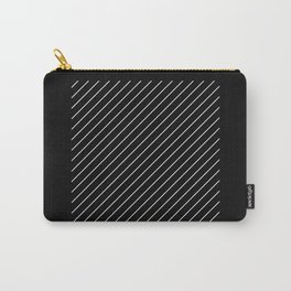 Minimalism - Black and white, geometric, abstract Carry-All Pouch