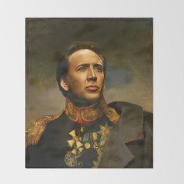 Nicolas Cage - replaceface Throw Blanket