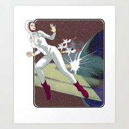 Astro Girl Art Print