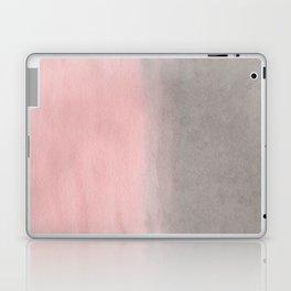 Gradient watercolor pink-gray Laptop & iPad Skin