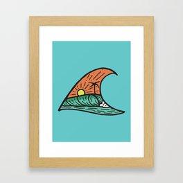 Wave in a Wave - Teal Framed Art Print