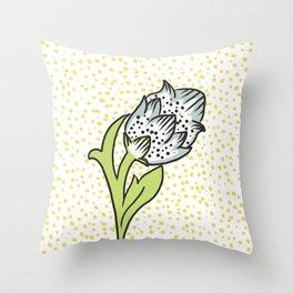 Vintage flower bud Throw Pillow