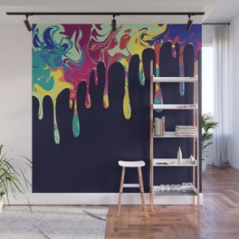 Dripping nebulas Wall Mural