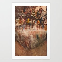 Middle of the Earth Art Print