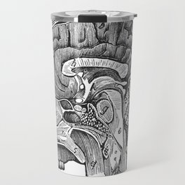 Cottage Physician - Vertical section of the brain Travel Mug