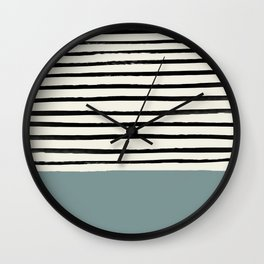 River Stone & Stripes Wall Clock