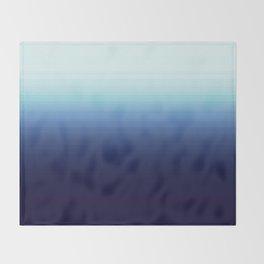 Nautical Blue Ombre Throw Blanket