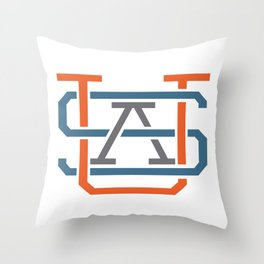 USA MONOGRAM Throw Pillow