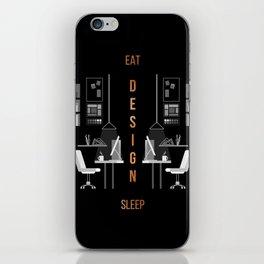 Eat Sleep Design Copper iPhone Skin