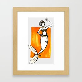 Golden Mermaid Framed Art Print