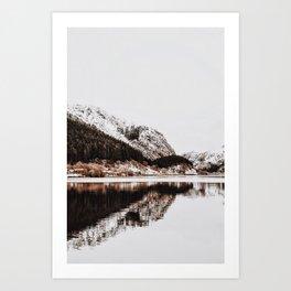 LAKE - OCEAN - BAY - SNOW - MOUNTAINS - HILLS - PHOTOGRAPHY Art Print