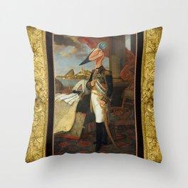 Framed Tyrant Tupuxuara Throw Pillow