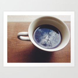 Clouds in my coffee Art Print